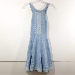 Guess Women's Halter Blue Dress